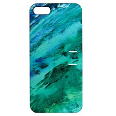 Shades Of Blue Apple Iphone 5 Hardshell Case With Stand by trendistuff