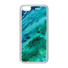 Shades Of Blue Apple Iphone 5c Seamless Case (white) by trendistuff