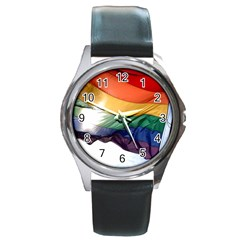 Pride Flag Round Metal Watches by trendistuff