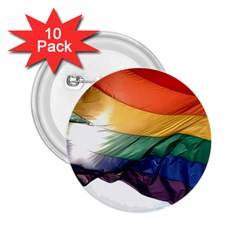 Pride Flag 2 25  Buttons (10 Pack)  by trendistuff