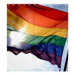 Pride Flag Shower Curtain 66  X 72  (large)  by trendistuff