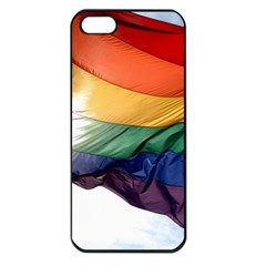 Pride Flag Apple Iphone 5 Seamless Case (black) by trendistuff