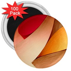 Pretty Abstract Art 3  Magnets (100 Pack) by trendistuff