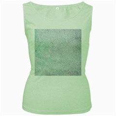 Paper Colors Women s Green Tank Tops by trendistuff