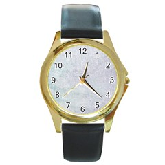 Paper Colors Round Gold Metal Watches by trendistuff