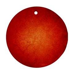 ORANGE DOT ART Round Ornament (Two Sides)