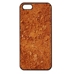 Orange Clay Dirt Apple Iphone 5 Seamless Case (black)