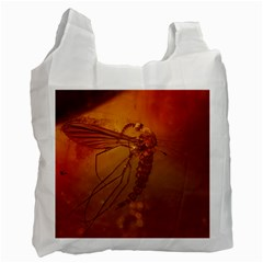 Mosquito In Amber Recycle Bag (one Side) by trendistuff