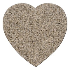 Light Beige Sand Texture Jigsaw Puzzle (heart) by trendistuff