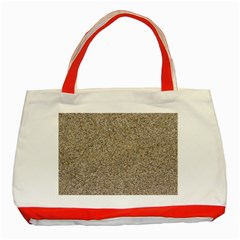 Light Beige Sand Texture Classic Tote Bag (red)  by trendistuff