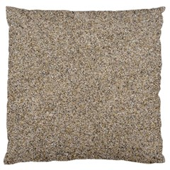 Light Beige Sand Texture Large Cushion Cases (two Sides)  by trendistuff