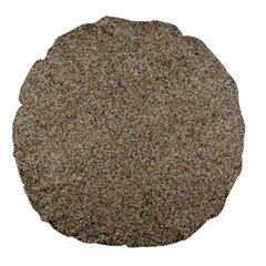 Light Beige Sand Texture Large 18  Premium Round Cushions by trendistuff