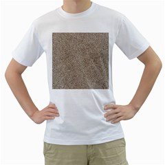 Light Beige Sand Texture Men s T Shirt (white)  by trendistuff