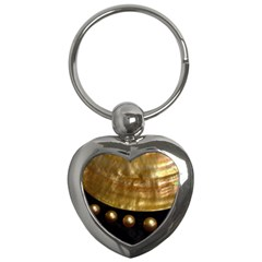 Golden Pearls Key Chains (heart)  by trendistuff