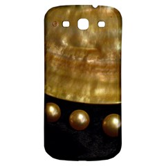 Golden Pearls Samsung Galaxy S3 S Iii Classic Hardshell Back Case by trendistuff