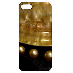 Golden Pearls Apple Iphone 5 Hardshell Case With Stand by trendistuff