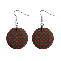 Distorted Polka Dots Pattern 1  Button Earrings by LalyLauraFLM