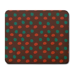 Distorted Polka Dots Pattern Large Mousepad by LalyLauraFLM