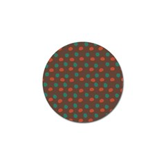 Distorted Polka Dots Pattern Golf Ball Marker (10 Pack) by LalyLauraFLM
