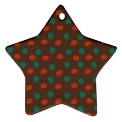 Distorted Polka Dots Pattern Star Ornament (two Sides) by LalyLauraFLM