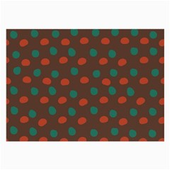 Distorted Polka Dots Pattern Large Glasses Cloth (2 Sides) by LalyLauraFLM