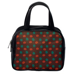 Distorted Polka Dots Pattern Classic Handbag (one Side) by LalyLauraFLM