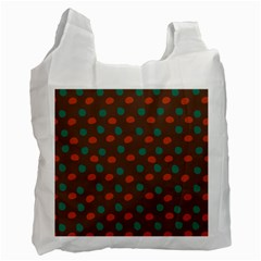 Distorted Polka Dots Pattern Recycle Bag (one Side) by LalyLauraFLM