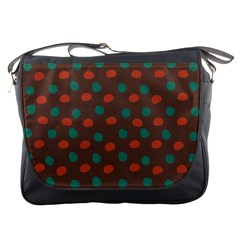 Distorted Polka Dots Pattern Messenger Bag by LalyLauraFLM