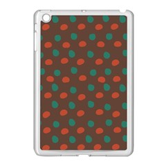 Distorted Polka Dots Pattern Apple Ipad Mini Case (white) by LalyLauraFLM