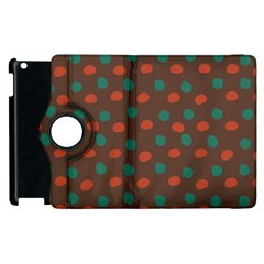 Distorted Polka Dots Pattern Apple Ipad 3/4 Flip 360 Case by LalyLauraFLM