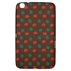 Distorted Polka Dots Pattern Samsung Galaxy Tab 3 (8 ) T3100 Hardshell Case  by LalyLauraFLM