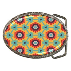 Stars And Honeycomb Pattern Belt Buckle by LalyLauraFLM