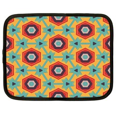 Stars And Honeycomb Pattern Netbook Case (xxl) by LalyLauraFLM