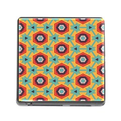 Stars And Honeycomb Pattern Memory Card Reader (square) by LalyLauraFLM