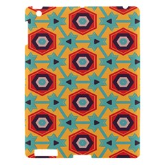 Stars And Honeycomb Pattern Apple Ipad 3/4 Hardshell Case by LalyLauraFLM