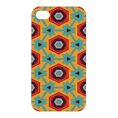Stars And Honeycomb Pattern Apple Iphone 4/4s Premium Hardshell Case by LalyLauraFLM