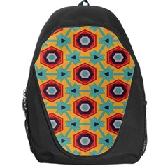 Stars And Honeycomb Pattern Backpack Bag by LalyLauraFLM