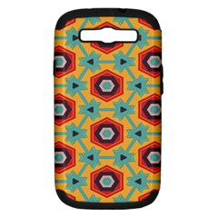 Stars And Honeycomb Pattern Samsung Galaxy S Iii Hardshell Case (pc+silicone) by LalyLauraFLM