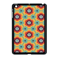 Stars And Honeycomb Pattern Apple Ipad Mini Case (black) by LalyLauraFLM