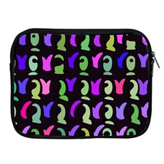 Misc Shapes Apple Ipad 2/3/4 Zipper Case by LalyLauraFLM