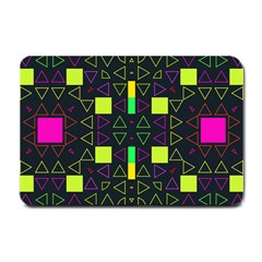 Triangles And Squares Small Doormat by LalyLauraFLM
