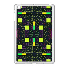 Triangles And Squares Apple Ipad Mini Case (white) by LalyLauraFLM