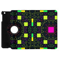 Triangles And Squares Apple Ipad Mini Flip 360 Case by LalyLauraFLM