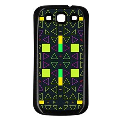 Triangles And Squares Samsung Galaxy S3 Back Case (black) by LalyLauraFLM