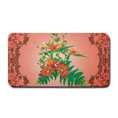 Awesome Flowers And Leaves With Floral Elements On Soft Red Background Medium Bar Mats by FantasyWorld7