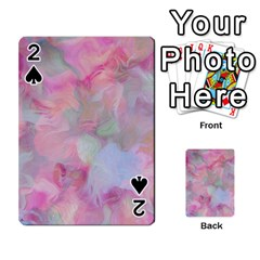 Soft Floral Pink Playing Cards 54 Designs