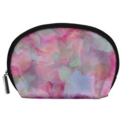 Soft Floral Pink Accessory Pouches (large)  by MoreColorsinLife