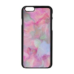 Soft Floral Pink Apple Iphone 6/6s Black Enamel Case by MoreColorsinLife