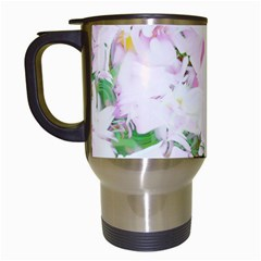 Soft Floral, Spring Travel Mugs (white) by MoreColorsinLife