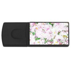 Soft Floral, Spring Usb Flash Drive Rectangular (4 Gb)  by MoreColorsinLife